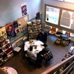 La bibliothèque vue de haut