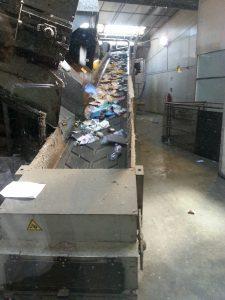 Une machine qui emmène les déchets
