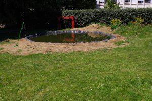 La marre a été implanté dans le parc du lycée Alfred de Musset