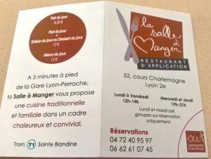 Quelques information pratiques sur le restaurant !