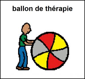 Ballon psychomotricité