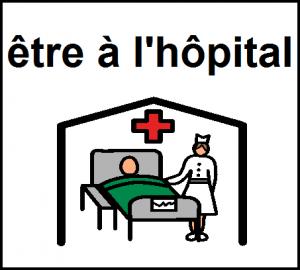 être à l'hôpital