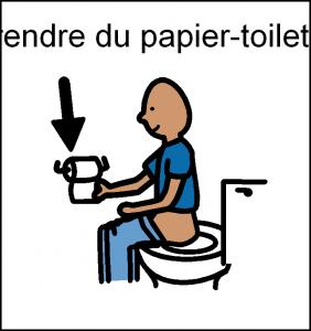 prendre du papier wc