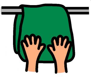 sécher mains