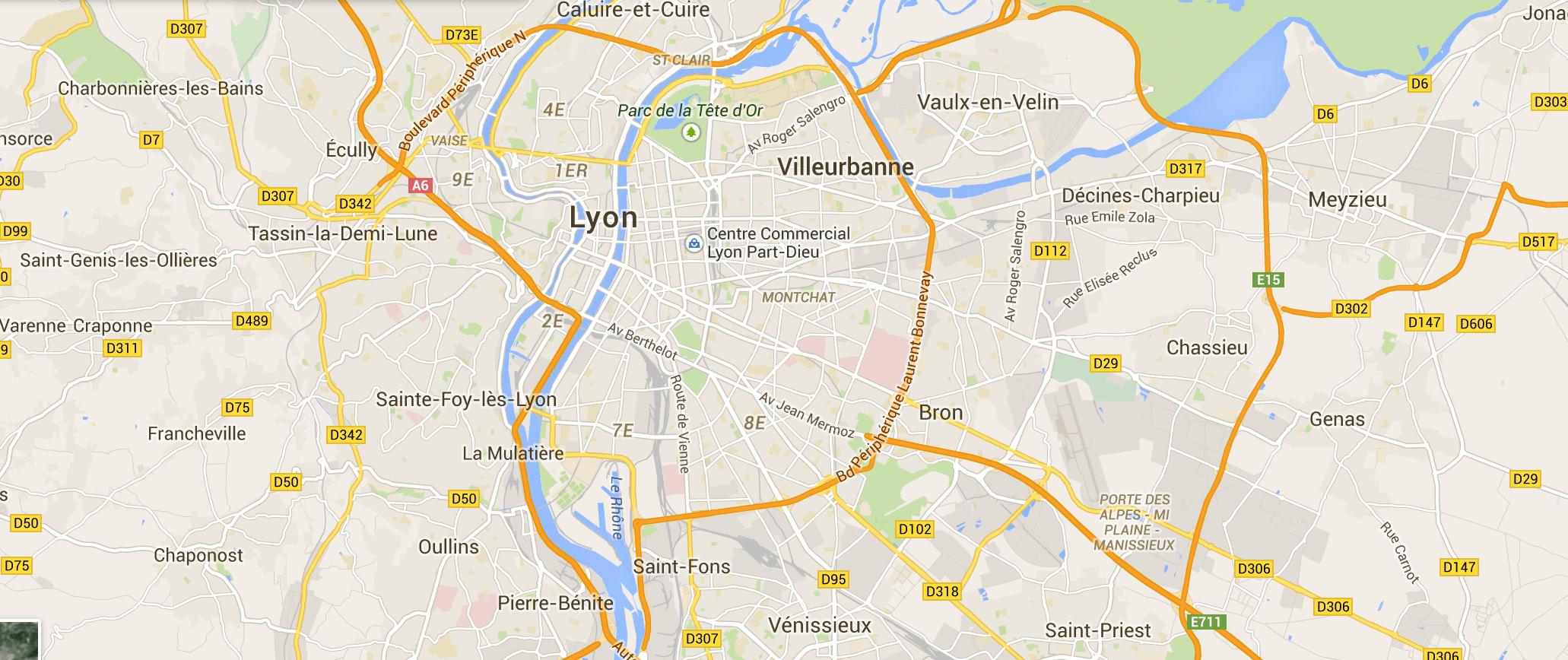 Carte Lyon.Carte Lyon 2 Le Blog Des Jeunes De L Ime Jean Jacques Rousseau